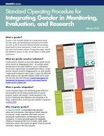 Standard Operating Procedure for Integrating Gender in Monitoring, Evaluation, and Research