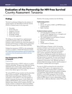 Evaluation of the Partnership for HIV-Free Survival Country Assessment: Tanzania