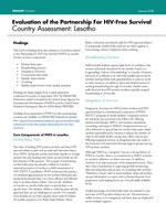 Evaluation of the Partnership For HIV-Free Survival Country Assessment: Lesotho