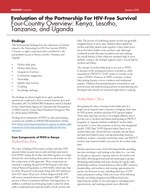 Evaluation of the Partnership for HIV-Free Survival Four-Country Overview: Kenya, Lesotho, Tanzania, and Uganda