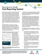 Reproductive Health Cost Reporting System