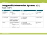 Geographic Information Systems (GIS) Tools Matrix