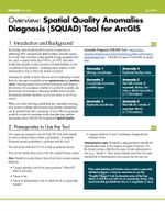 Overview: Spatial Quality Anomalies Diagnosis (SQUAD) Tool for ArcGIS