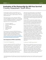 Evaluation of the Partnership for HIV-Free Survival Country Assessment: South Africa