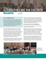 Alternative Care for Children Newsletter (April 2018)