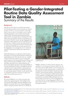 Pilot-Testing a Gender-Integrated Routine Data Quality Assessment Tool in Zambia: Summary of the Results