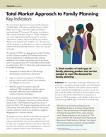 Total Market Approach to Family Planning: Key Indicators