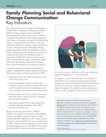 Family Planning Social and Behavioral Change Communication: Key Indicators
