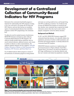 Development of a Centralized Collection of Community-Based Indicators for HIV Programs