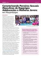 Caracterizando Parceiros Sexuais Masculinos de Raparigas Adolescentes e Mulheres Jovens em Moçambique