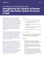 A Cost-Effective and Sustainable Approach for Strengthening the Capacity of Routine Health Information System Personnel in Mali