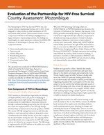 Evaluation of the Partnership for HIV-Free Survival Country Assessment: Mozambique