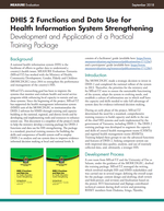 DHIS 2 Functions and Data Use for Health Information System Strengthening: Development and Application of a Practical Training Package