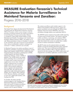 MEASURE Evaluation–Tanzania's Technical Assistance for Malaria Surveillance in Mainland Tanzania and Zanzibar: Progress 2016–2018