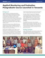 Applied Monitoring and Evaluation Postgraduate Course Launched in Tanzania