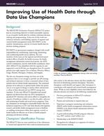 Improving Use of Health Data through Data Use Champions