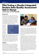 Pilot Testing a Gender-Integrated Routine Data Quality Assessment Tool in Kenya