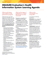 MEASURE Evaluation's Health Information System Learning Agenda