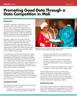 Promoting Good Data Through a Data Competition in Mali