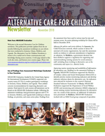 Alternative Care for Children Newsletter (November 2018)