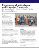 Development of a Monitoring and Evaluation Framework for Master Facility Lists and Health Facility Registries in Nigeria