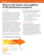 What are the factors and conditions of HIS performance progress?