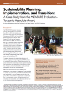 Sustainability Planning, Implementation, and Transition: A Case Study from the MEASURE Evaluation–Tanzania Associate Award