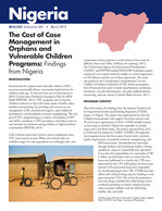 The Cost of Case Management in Orphans and Vulnerable Children Programs: Findings from Nigeria