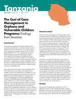 The Cost of Case Management in Orphans and Vulnerable Children Programs: Findings from Tanzania