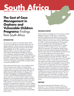 The Cost of Case Management in Orphans and Vulnerable Children Programs: Findings from South Africa