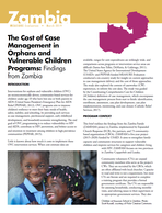 The Cost of Case Management in Orphans and Vulnerable Children Programs: Findings from Zambia