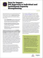 Data for Impact Approach to Institutional Strengthening
