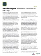 Data for Impact: What's the cost of evaluations and other surveys?