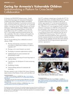 Caring for Armenia's Vulnerable Children: Institutionalizing a Platform for Cross-Sector Collaboration