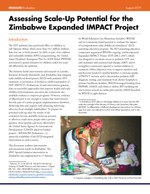 Assessing Scale-Up Potential for the Zimbabwe Expanded IMPACT Project