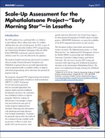 "Scale-Up Assessment for the Mphatlalatsane Project—""Early Morning Star""—in Lesotho"