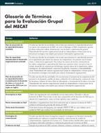 Glosario de Términos para la Evaluación Grupal del MECAT