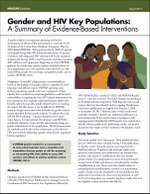Gender and HIV Key Populations: A Summary of Evidence-Based Interventions