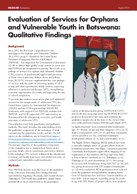 Evaluation of Services for Orphans and Vulnerable Youth in Botswana: Qualitative Findings