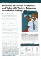 Evaluation of Services for Orphans and Vulnerable Youth in Botswana: Quantitative Findings