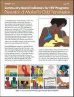 Community-Based Indicators for HIV Programs: Prevention of Mother-To-Child Transmission