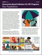 Community-Based Indicators for HIV Programs: Key Populations