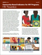 Community-Based Indicators for HIV Programs: HIV Prevention
