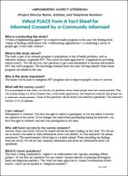 Virtual PLACE Form A Fact Sheet for  Informed Consent by a Community Informant