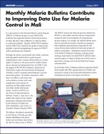 Monthly Malaria Bulletins Contribute to Improving Data Use for Malaria Control in Mali