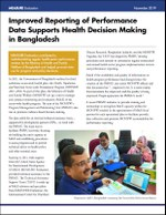 Improved Reporting of Performance Data Supports Health Decision Making in Bangladesh