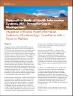 Prospective Study of Health Information Systems (HIS) Strengthening in Madagascar: Integration of Routine Health Information Systems and Epidemiologic Surveillance with a Focus on Malaria