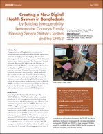 Creating a New Digital Health System in Bangladesh by Building Interoperability between the Country's Family Planning Service Statistics System and the DHIS2