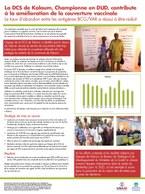 La DCS de Kaloum, Championne en DUD, contribute à l'amélioration de la couverture vaccinale: Le taux d'abandon entre les antigènes BCG/VAR a été réduit