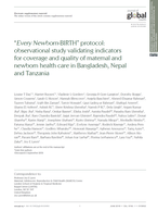 """Every Newborn-BIRTH"" protocol: observational study validating indicators for coverage and quality of maternal and newborn health care in Bangladesh, Nepal and Tanzania"